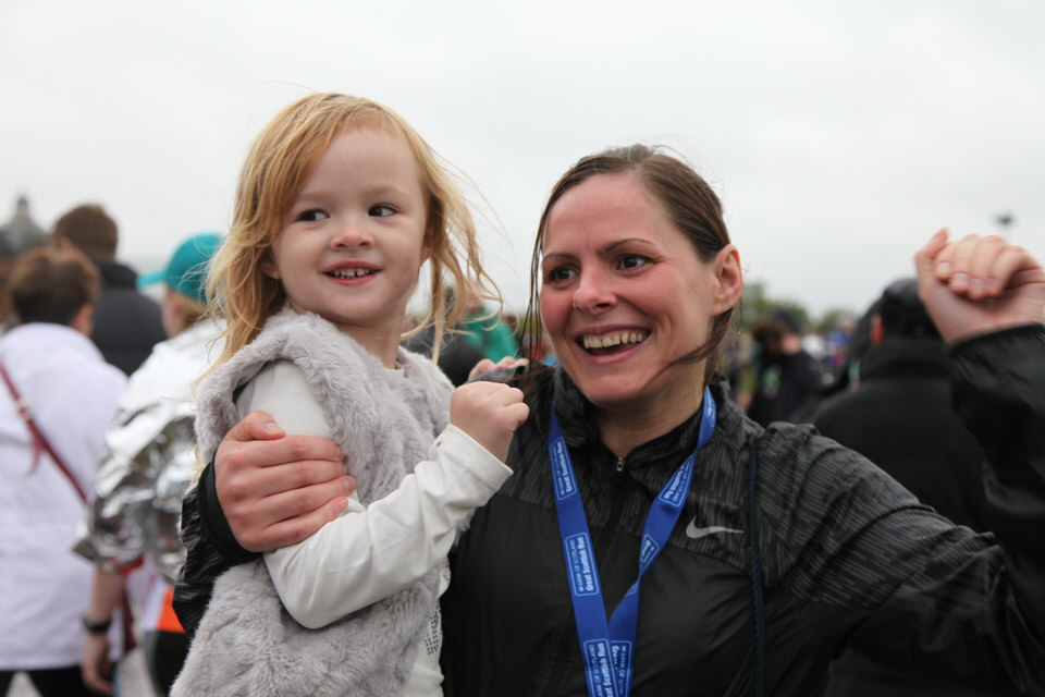 Image: Pam and Ava with medal